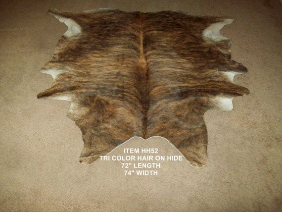 HH52   Tri Color Leather Cowhide Hair on HIde