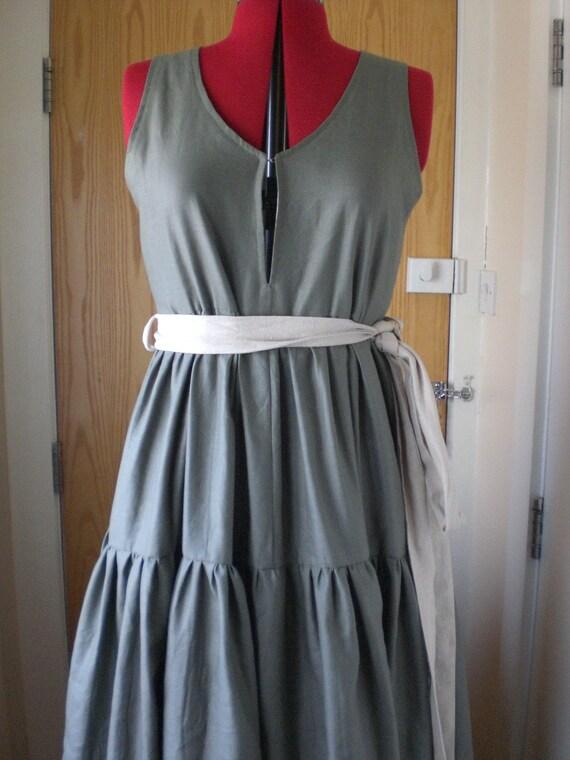 3 Tiered Summer Linen Maxi Dress
