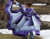 ColoR Me Winter Lavender - Upcycled with Love Recycled Coat of Many Colors By Elfedup Size M/L