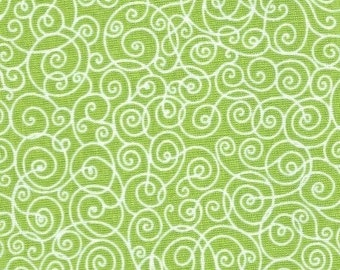 1 yard of Lime Swirl by Kate Honarvar for Timeless Treasures Fabric C3218