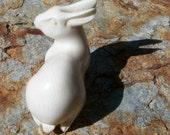 Fossil Ivory Rabbit Figurine