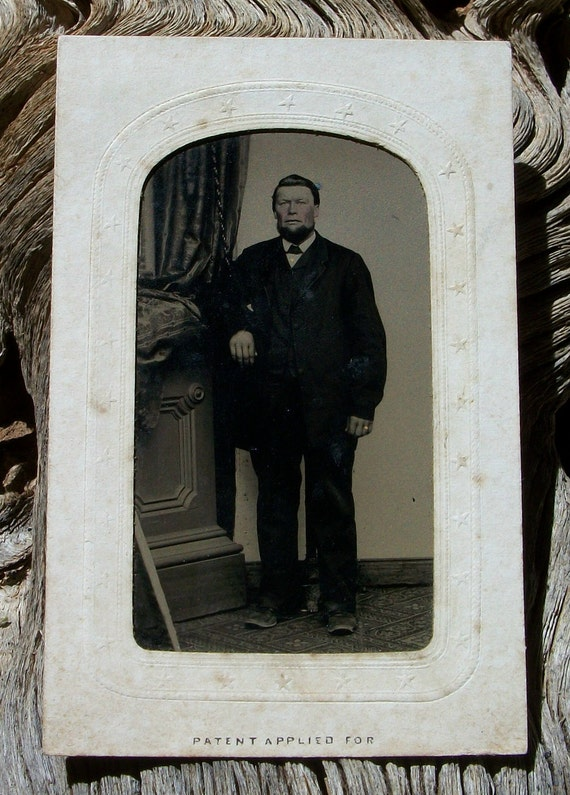 Tintype Framed Star Studded Man