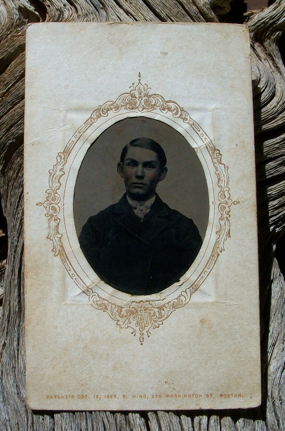 Tintype Framed Mr. Expressive Eyebrows