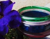 Stormy Weather Bangle Set Bakelite Lucite and Plastic