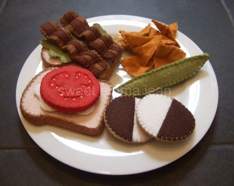 Felt Play Food Pattern - Deluxe Lunch Set PDF - DIY Felt Food