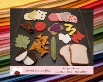 Felt Pack to make our Deluxe Lunch Set