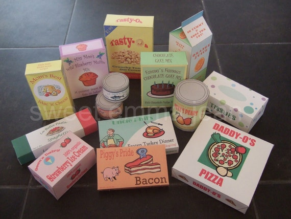 Personalized Play Food Groceries - DIY - PDFs
