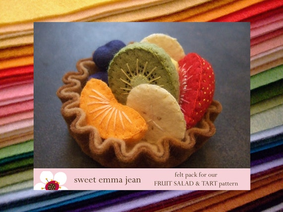 Felt Pack to make our Fruit Salad and Fresh Fruit Tart