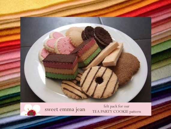 Felt Pack to make our Tea Party Cookie Assortment