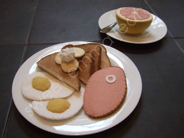 Felt Food Pattern French Toast Breakfast DIY Felt Play