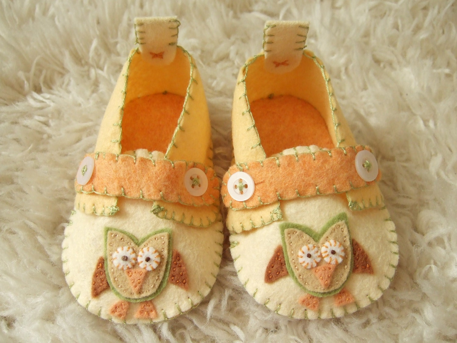 Hooty Owl Slippers Baby Loafers Felt Baby Shoes Can Be