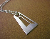FACETED TRAPEZOID PENDANT - 199 Carat Series - Sterling Silver - Hand Cut by Gemagenta - Diamond, Geometry, Architectural