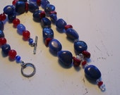 Blue, Red and White Semi precious stones and more