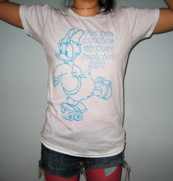 Clow in the Dark Feminist Art Daisy Duck Shirt