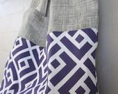 SALE- Purple Tiles Tote (Large)