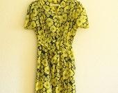 40s style  yellow dress M