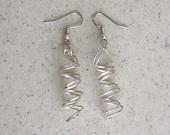 Hand Made Argentium Silver Swirl Earrings  SAS01