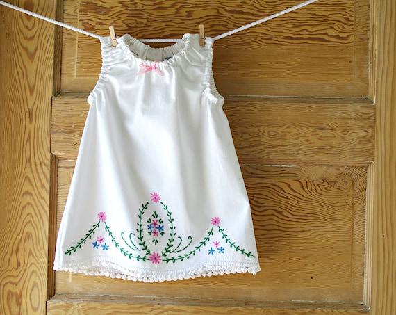 12m- Recycled Vintage Pillowcase Dress
