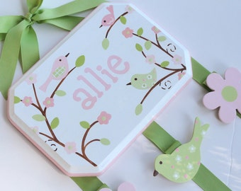 Hand Painted & Personalized 7x9 hair bow holder