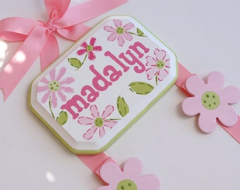 Hand Painted & Personalized Hair Bow holder