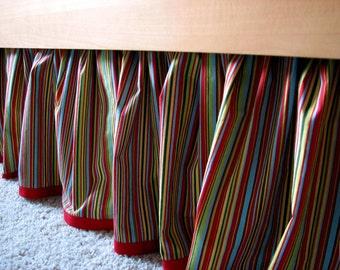 Custom Gathered Crib Skirt, One Print Plus Trim, you pick the fabric