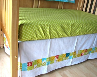 Apple Green Polka Dot Fitted Crib Sheet