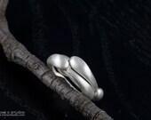Silver Teardrop Stacking Ring - two rings