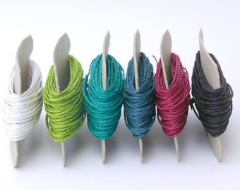 Paper Yarn - Paper Twine - Set of 6 Pop Colors (6 x 11 yards)