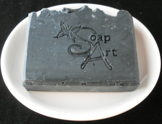 Black Soap with Activated Charcoal ONE Cold Process Soap Great For Your Skin