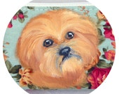 Lhasa Apso Coin Purse Cell Phone Hand Painted