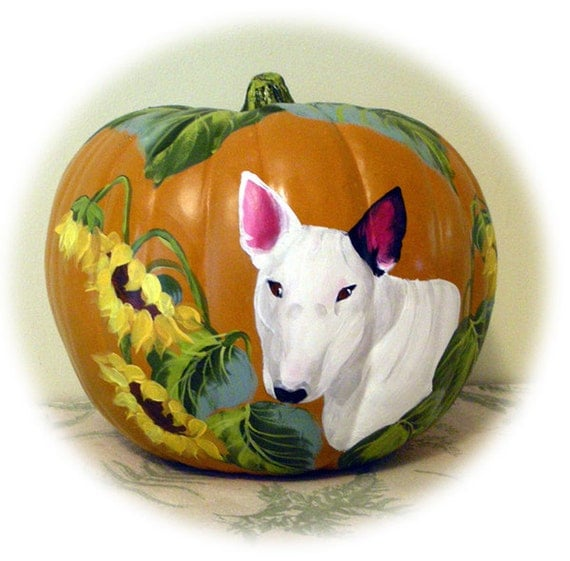 Custom Hand Painted Pumpkin of Any Pet Just for You