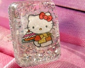 Black Fri/Cyber Mon Sale Hello Kitty baker resin ring