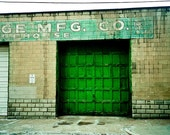 Urban pittsburgh Photography strip district green building sausage emerald lime squares - He belonged to an older time - fine art photo