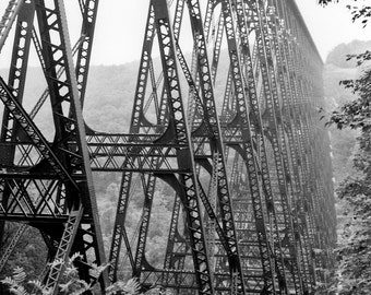Steel bridge Photograph perspective linear tallest railroad blown away tornado - Without words, The Kinzua Viaduct - fine art photography