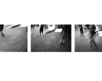 Triptych - Steps 8x12 fine art photos three black and white collection advance abstract feet legs new york city motion movement