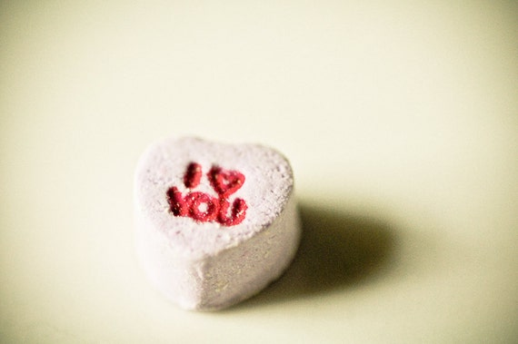 Valentines candy Photography wedding day conversation hearts purple red letters sweet lavender gift - I love you - fine art photograph