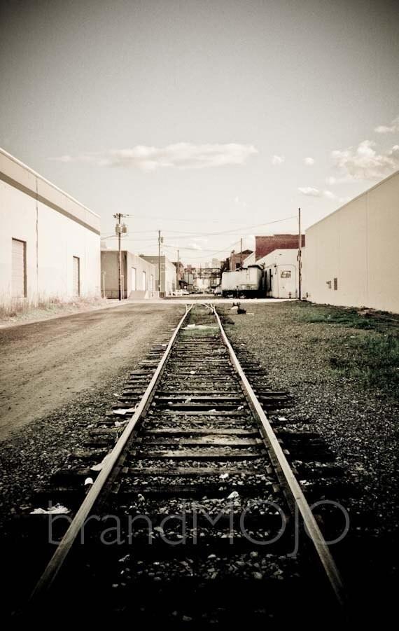 Portland Photography train tracks northwest relocate bridgetown downtown portlandia railroad - All roads lead to Portland - fine art photo