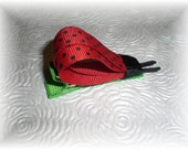 LADYBUG Hair Bow Clip - Cute Bug Clip for Spring and Summer
