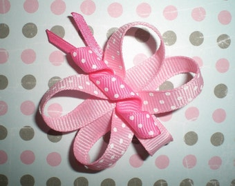 Pink Butterfly Bow, Baby Bow, Butterfly Hair Clip - Pretty in Pink SPRING Butterfly Hair Bow Clippy
