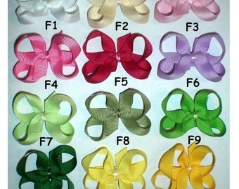 Small Baby Bows, Boutique Hair Bows, Baby Snap Clip Hairbows-You Choose Any 5-Perfect for Thin or Fine Hair
