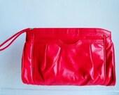 Vintage  Red 80s Clutch