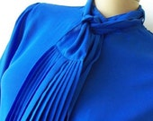 RESERVED for Destinies  Vintage Blue Blouse