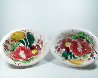 Vintage Handpainted Franciscan Style Bowls
