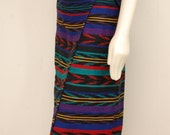 Vintage Striped Wrap Skirt