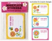 Bookplate Stickers 6 Pack - 'Summer Garden'