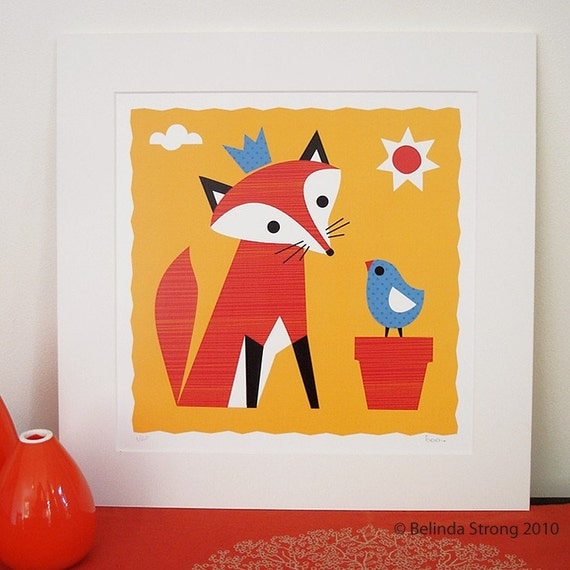 Art Print 'Mister Fox's New Hat' - limited edition