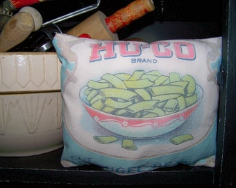 UNSTUFFED Kitchen Decor Primitive Feedsack Pillow Ornie Bowl Filler Cupboard Tuck Country Farmhouse Farm Pantry Brand New wvluckygirl