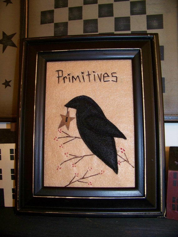 Primitive Crow Picture 5x7 Un Framed Primitives By Wvluckygirl