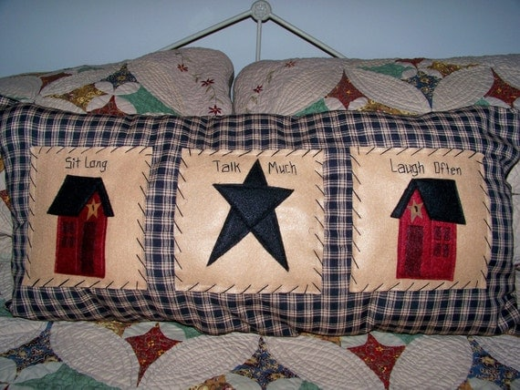 Items Similar To Long Pillow Primitive Home Decor Saltbox
