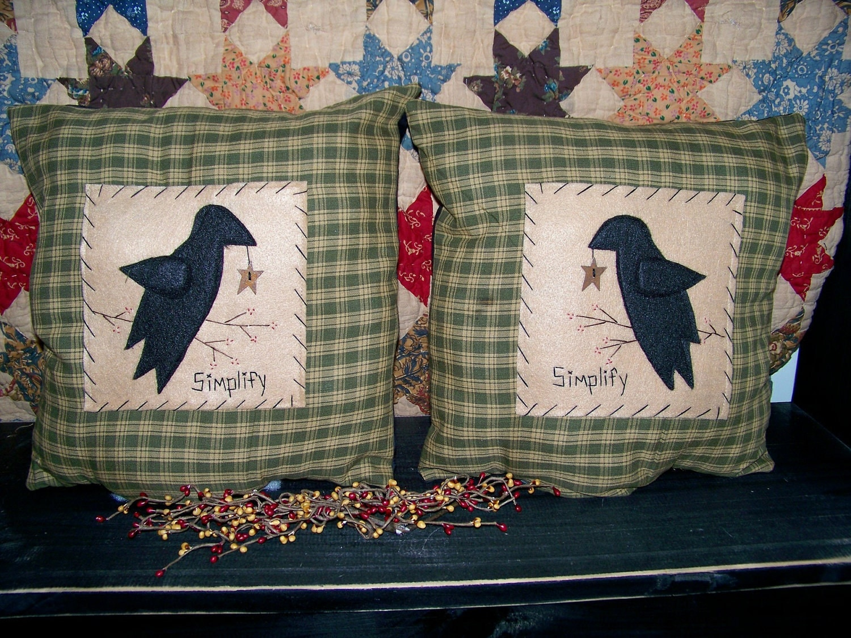 primitive pillows.